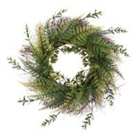 Pure Garden 21-Inch Artificial Fern Wreath