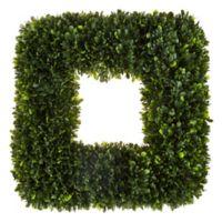 Pure Garden 17-Inch Square Faux Tea Leaf Wreath