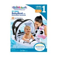 My Zebra Baby Boat with Sun Shade in White/Black