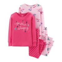 carter's® Size 12M 4-Piece Penguin Top and Pant Set in Pink