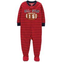 carter's® Size 24M 1-Piece Football Fleece Pajama in Red