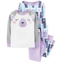 carter's® Size 4T 4-Piece Bear Snug-Fit Cotton Pajama Set in Purple