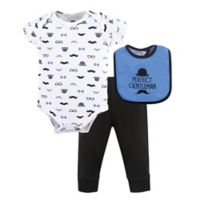Hudson Baby® Size 6-9M 3-Piece Gentleman Bodysuit, Pant, and Bib Set in Blue
