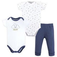 Hudson Baby® Size 6-9M 3-Piece Clouds Bodysuit and Pant Set in Navy