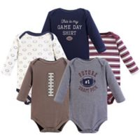 Hudson Baby® Size 18-24M 5-Pack Football Long Sleeve Bodysuits