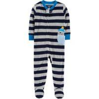 carter's® Size 24M Striped Walrus Footie in Blue