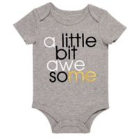 """Baby Starters® BWA® Size 9M """"A Little Bit Awesome"""" Bodysuit in Grey"""