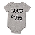 BWA® Size 3M Loud & Happy Bodysuit in Grey