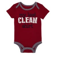BWA® Size 3M My Last Clean Shirt T-Shirt in Burgundy