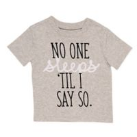 BWA® Size 24M No One Sleeps T-Shirt in Grey