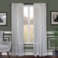 Florentina 108-Inch Rod-Pocket Sheer Window Curtain Panel in White