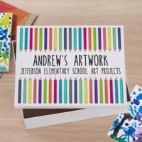 Vibrant Hues Personalized Art Box