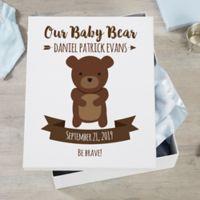Woodland Adventure Bear Personalized Baby Keepsake Box