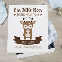 Woodland Adventure Deer Personalized Baby Keepsake Box