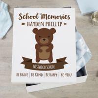 Woodland Adventure Bear Personalized Kids Keepsake Box
