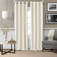Brooke Woven 84-Inch Room Darkening Window Curtain Panel in Natural