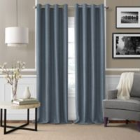 Brooke Woven 84-Inch Room Darkening Window Curtain Panel in Navy