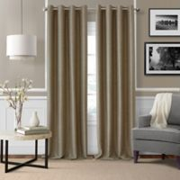 Brooke Woven 84-Inch Room Darkening Window Curtain Panel in Taupe