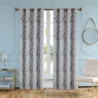 Skye 95-Inch Grommet Window Curtain Panel in Grey