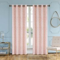 Skye 54 Inch Grommet Window Curtain Panel In Blush