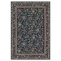 ECARPETGALLERY 4'X 6' Hand-Knotted Area Rug in Black/teal