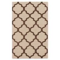 ECARPETGALLERY 5' X 8' Tufted Area Rug in Brown/ivory