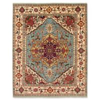 ECARPETGALLERY One of a Kind Serapi Heritage 7'11 x 10' Hand-Knotted Rug in Aqua/Red