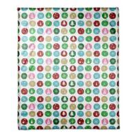 Designs Direct Wintery Polka Dots Throw Blanket