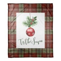 "Designs Direct ""Tis the Season"" Throw Blanket in Red"