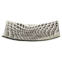 Urban Chic Crystal Matzah Plate in Black/Grey