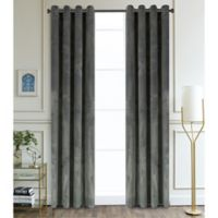Regency 54-Inch Grommet Room Darkening Window Curtain Panel in Charcoal