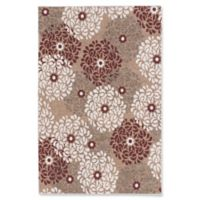 ECARPETGALLERY 4' X 6' Woven Area Rug in Dark Red/ivory