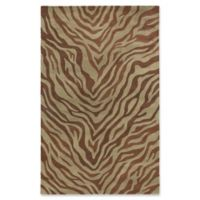 ECARPETGALLERY 5' X 8' Tufted Area Rug in Brown/light Green