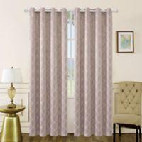 Mila 95-Inch Grommet Room Darkening Window Curtain Panel in Blush