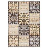 ECARPETGALLERY Ooak Woven 5'3 x 7'7 Area Rug in Dark Brown/Light Gold