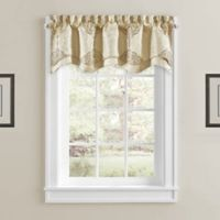 Constantine Rod Pocket Scalloped Window Valance in Gold