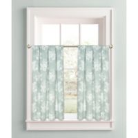 Cabbage Rose 45-Inch Window Curtain Tier Pair in Green