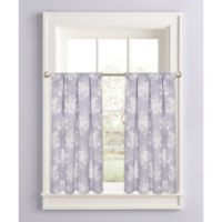 Cabbage Rose 45-Inch Window Curtain Tier Pair in Lavender
