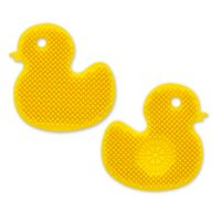 Silicone 2-Sided Scrubber Brush in Yellow Duck