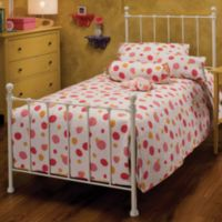 Hillsdale Molly Twin Bed Set with Rails in White