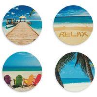 Blank Slate Beach Coasters (Set of 4)