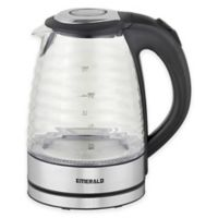 Emerald™ 1.7 Liter Glass Electric Kettle with Ridge Design
