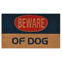 "Calloway Mills Dog Warning 17"" x 29"" Coir Door Mat"