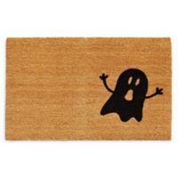 """Calloway Mills Ghost 24 x 36"""" Coir Door Mat in Natural/Black"""