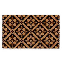 """Calloway Mills Sophia 24 x 36"""" Coir Door Mat in Natural/Black"""