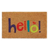 "Calloway Mills Hello 17"" x 29"" Multicolor Coir Door Mat"