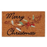 "Calloway Mills Berries Merry Christmas 17"" x 29"" Multicolor Coir Door Mat"