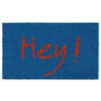 """Calloway Mills Hey 17"""" x 29"""" Coir Door Mat in Blue/Orange"""