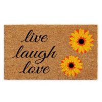 """Calloway Mills Sunflower Live Laugh Love 17"""" x 29"""" Coir Door Mat"""