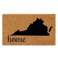 """Calloway Mills Virginia Home 18"""" x 30"""" Coir Door Mat in Natural/Black"""